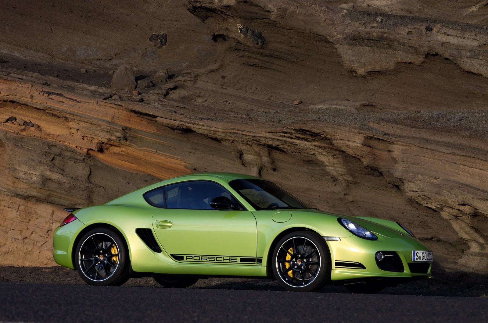 porsche cayman r green