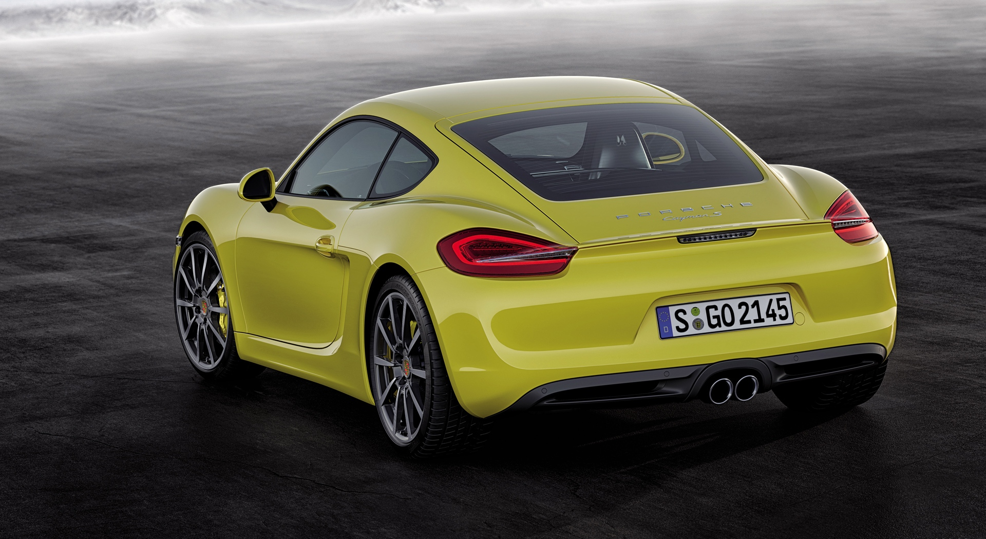 porsche cayman yellow car