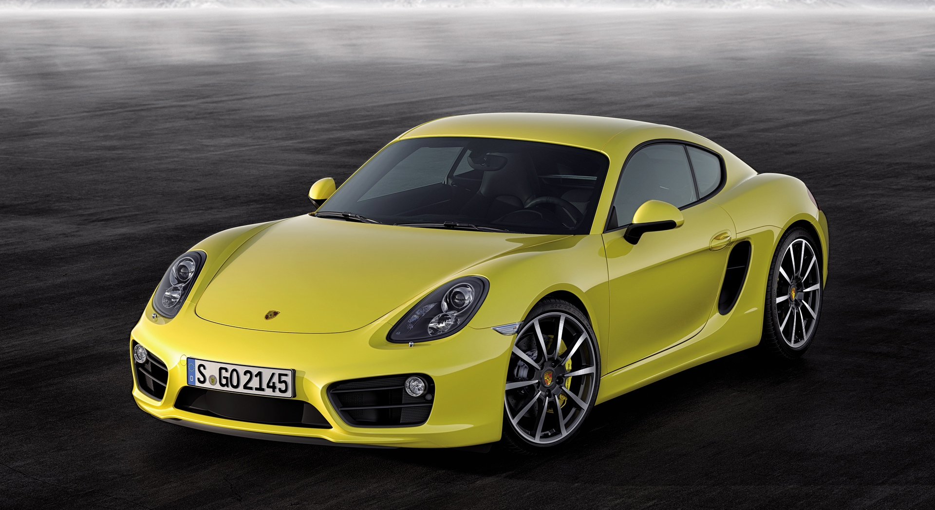 porsche cayman yellow
