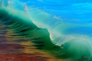 rainbow beach waves