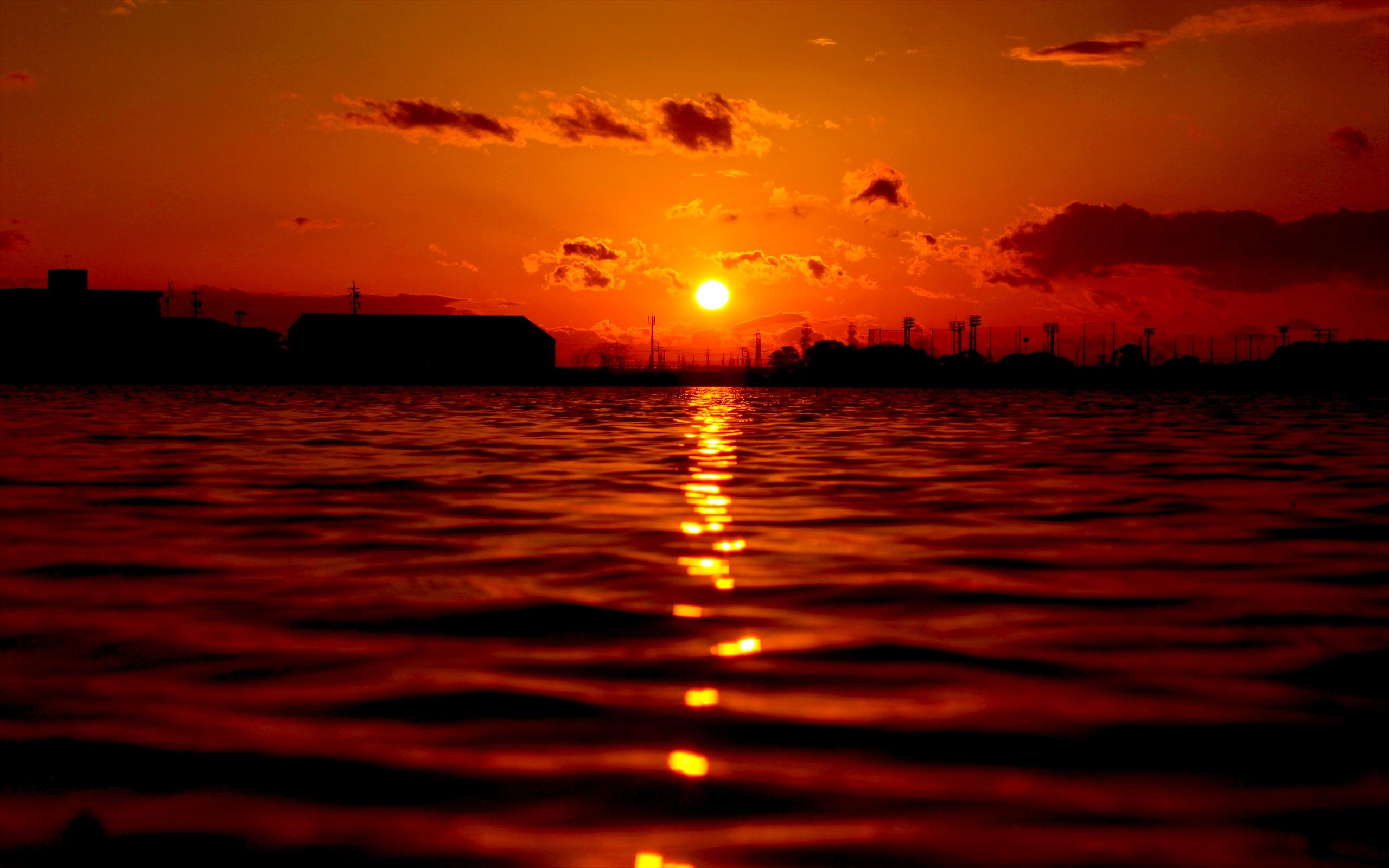 red evening sun