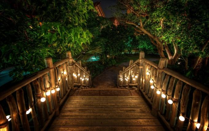 resort night time