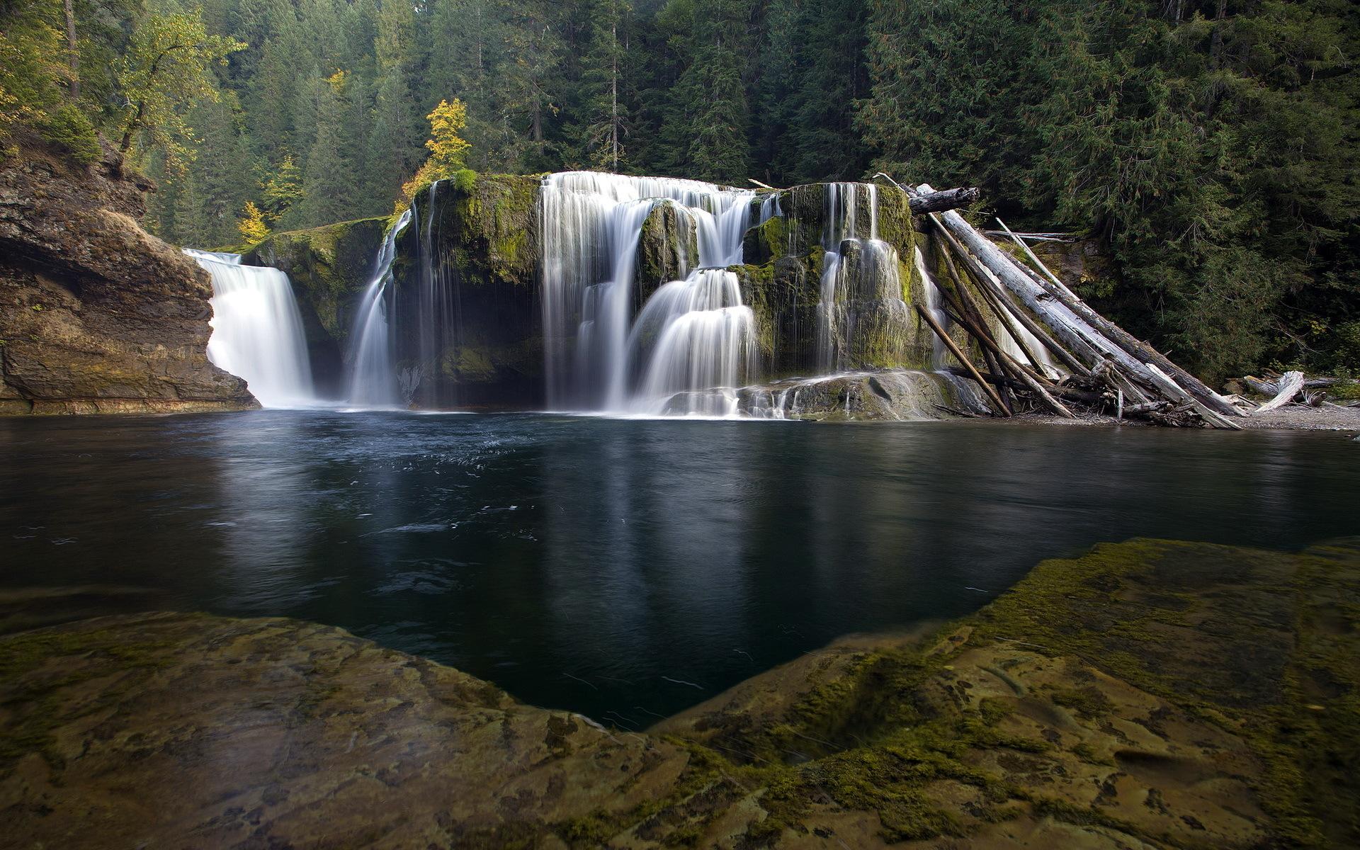 river wallpaper waterfall