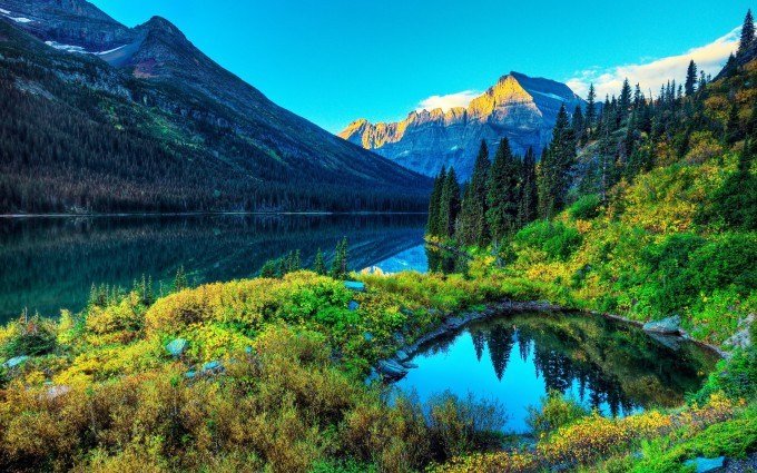 scenery alpine lake