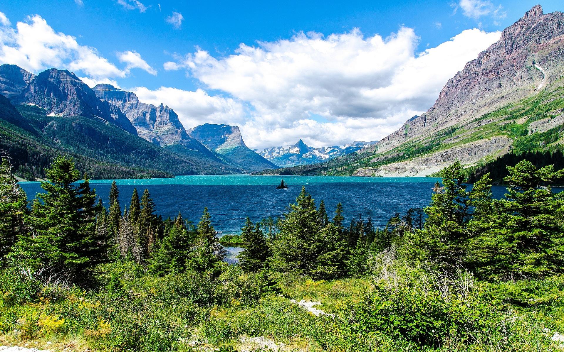 scenery alpine mountains
