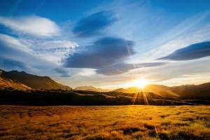 scenery beautiful sunrise