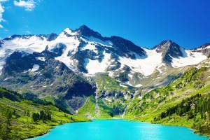 scenery blue lake