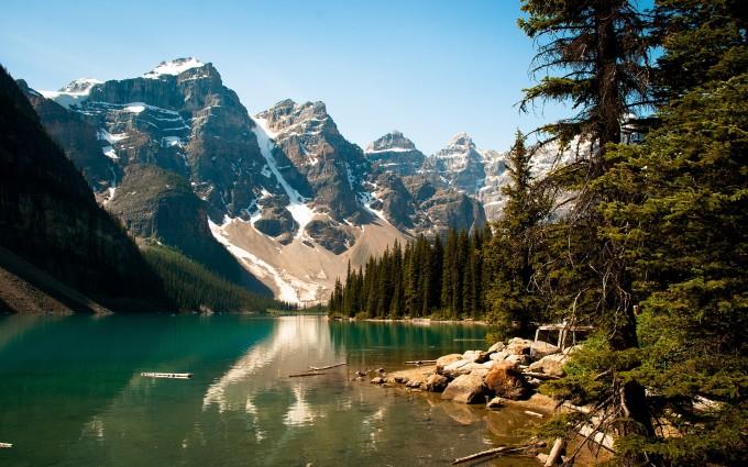 scenery lake river