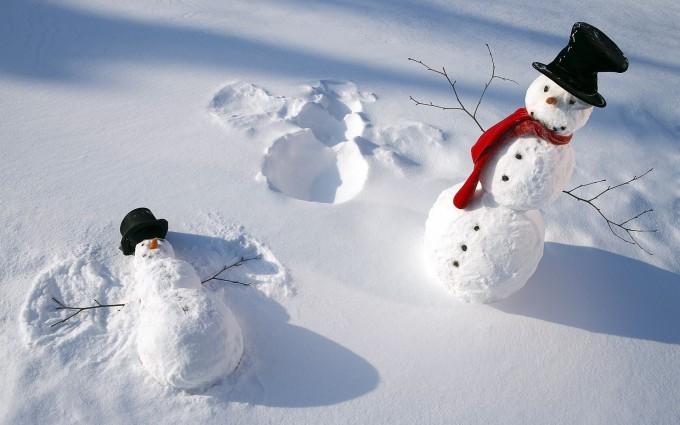 snowman wallpaper hd
