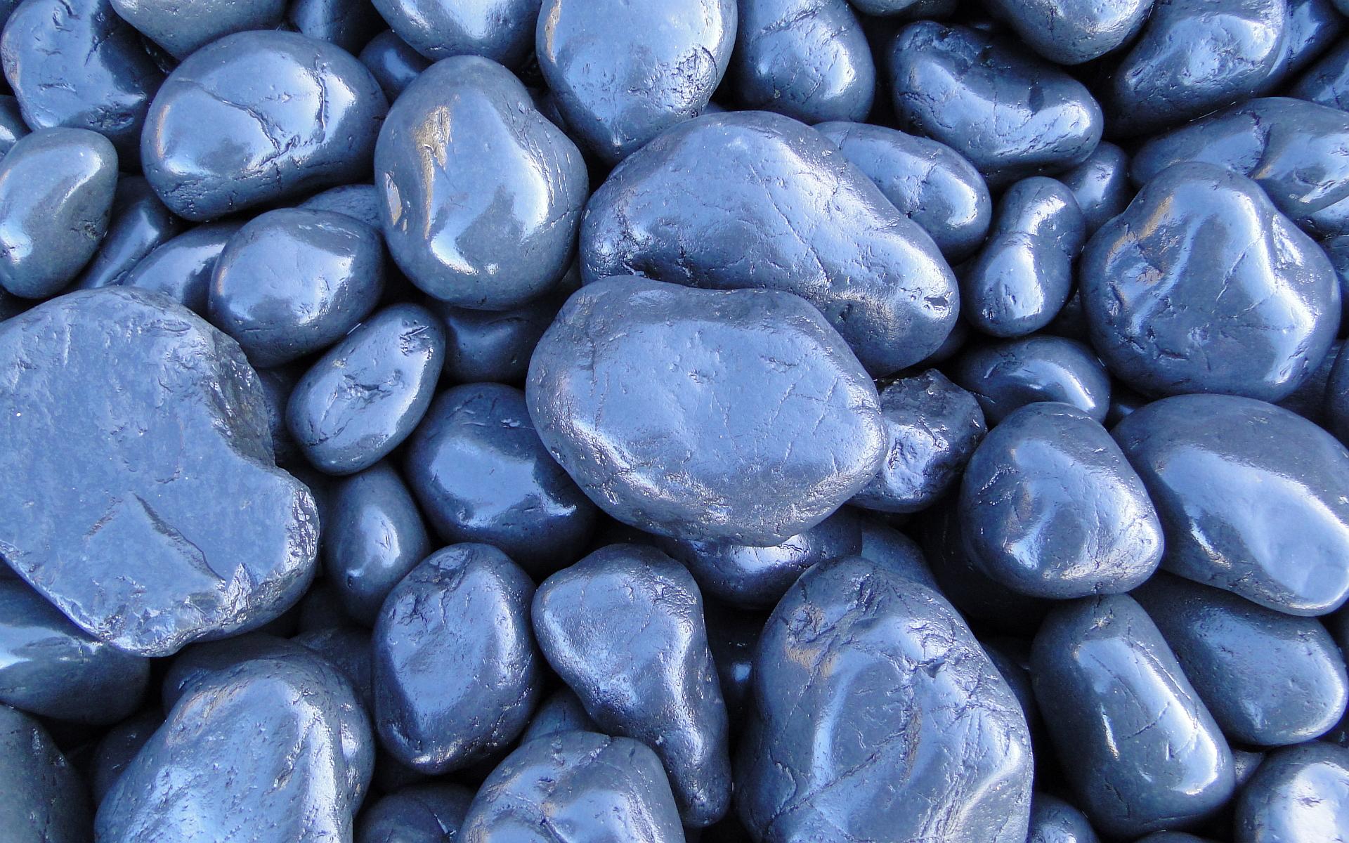 stone wallpaper blue