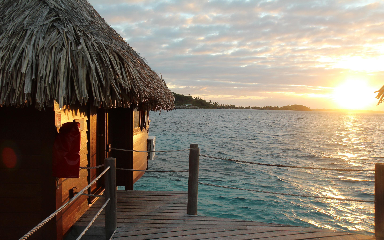 Bora Bora Bungalows 4k Hd Desktop Wallpaper For Wide: Sunrise Pictures Bora Bora - HD Desktop Wallpapers
