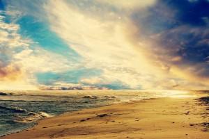 sunset beach wallpaper beautiful