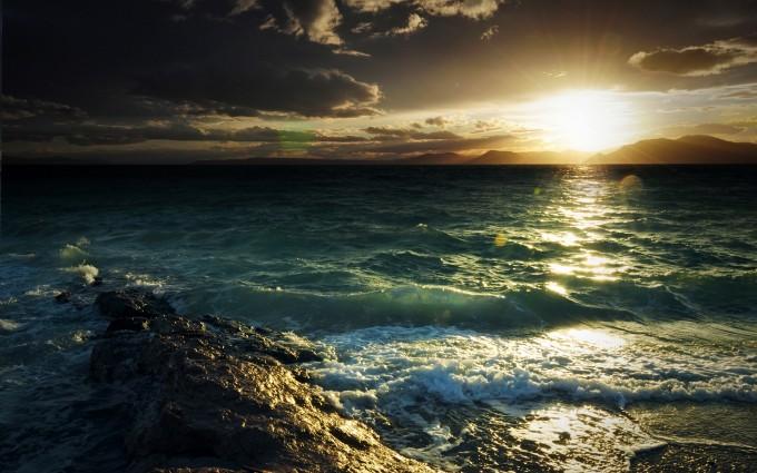sunset beach wallpaper hd