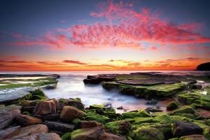sunset coastal