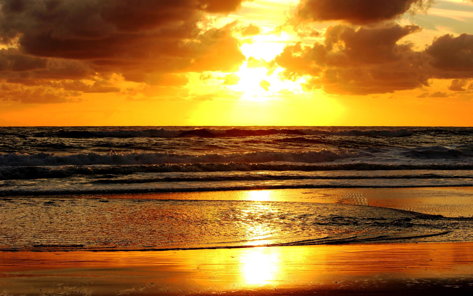 sunset images beach hd