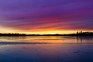 sunset lake hd image download