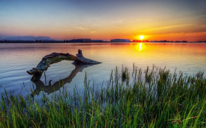 sunset lake laptop images