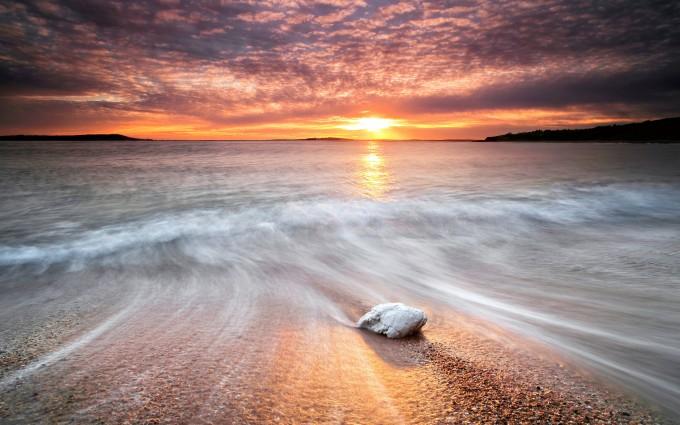 sunset photos beach waves