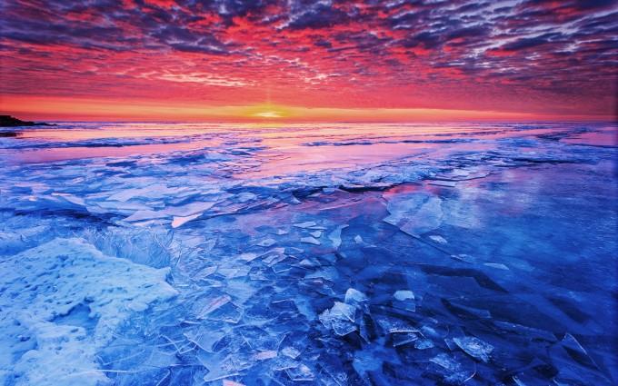 sunset photos frozen