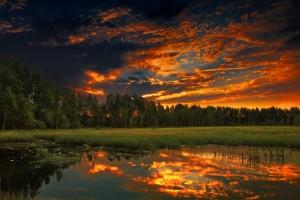 sunset sky wallpaper