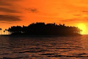 tropical sunset wallpaper hd