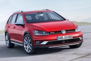 volkswagen golf all track red