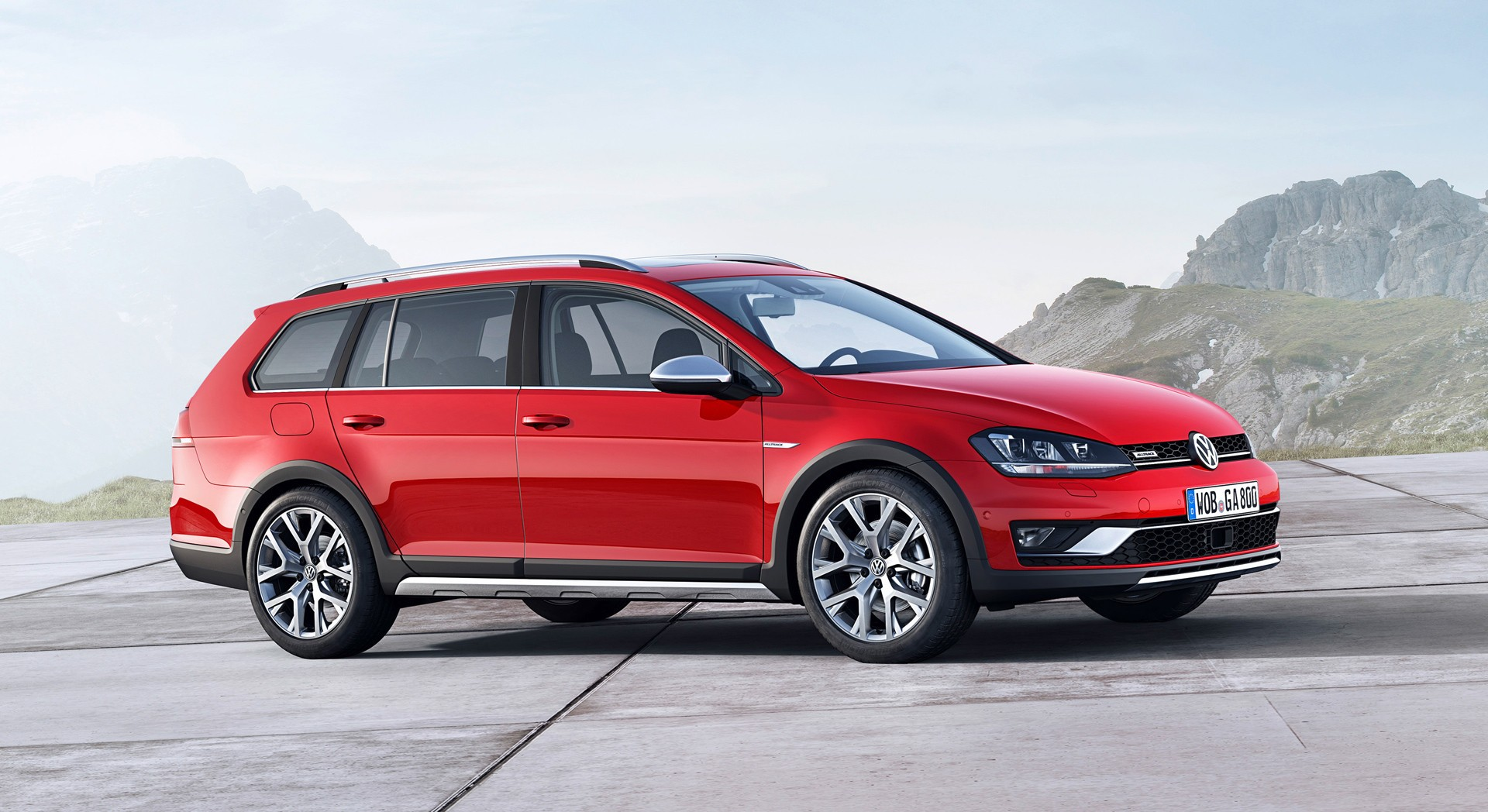 volkswagen golf alltrack red