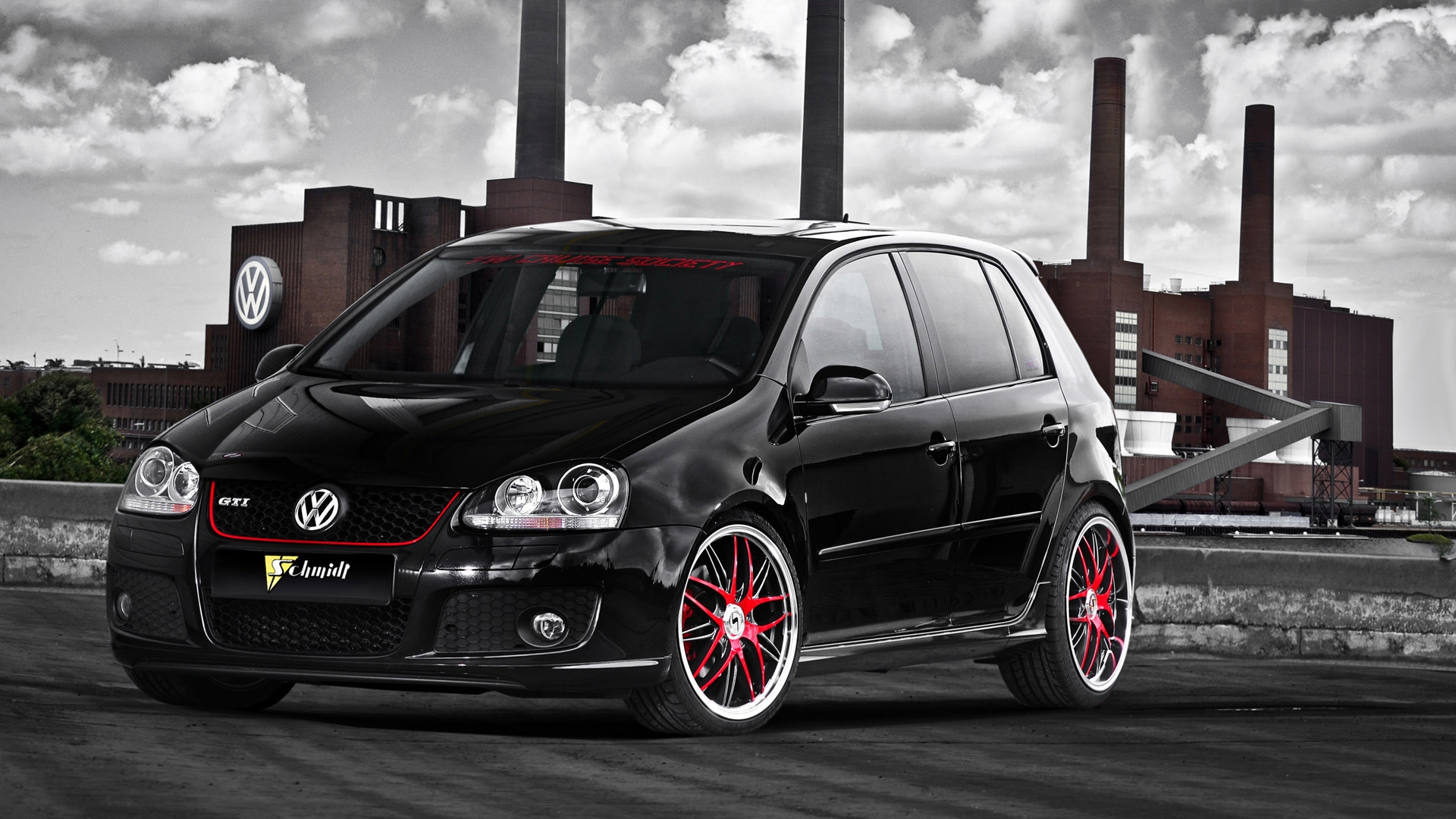 volkswagen golf black background