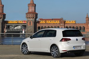 volkswagen golf gte white rear