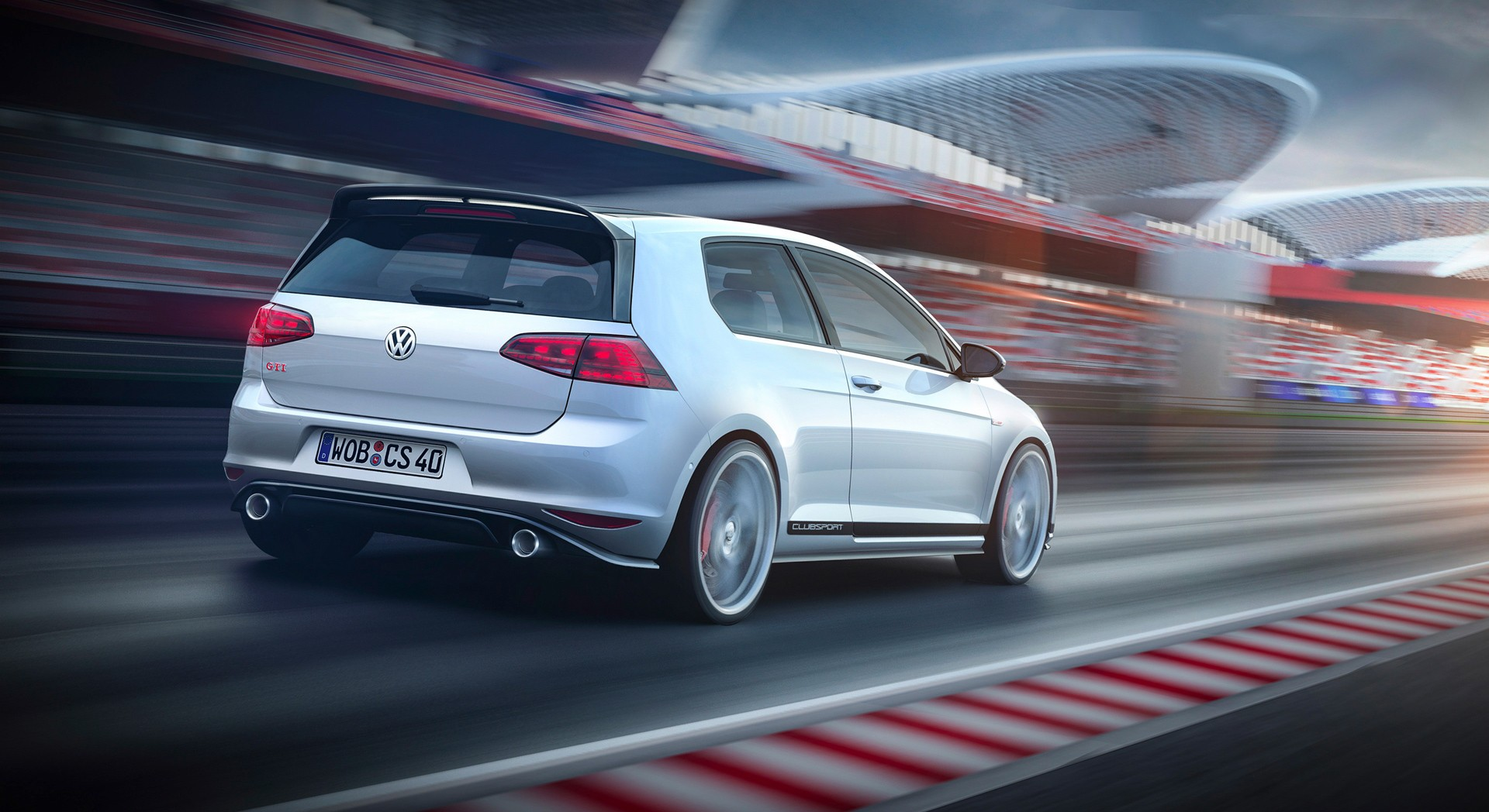 volkswagen golf gti club sport white