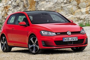 volkswagen golf gti red front