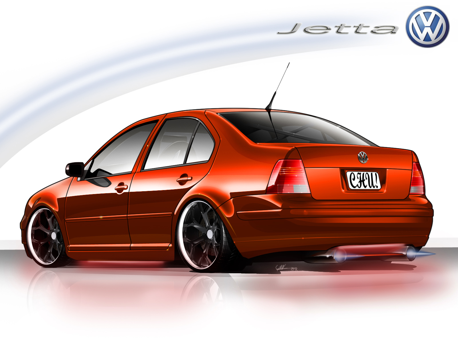 volkswagen jetta cartoon
