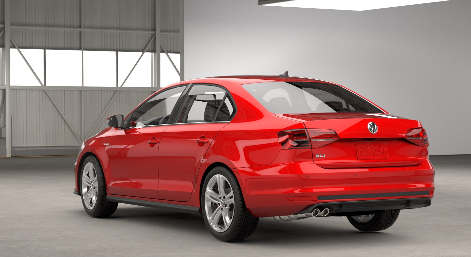 volkswagen jetta gli red rear
