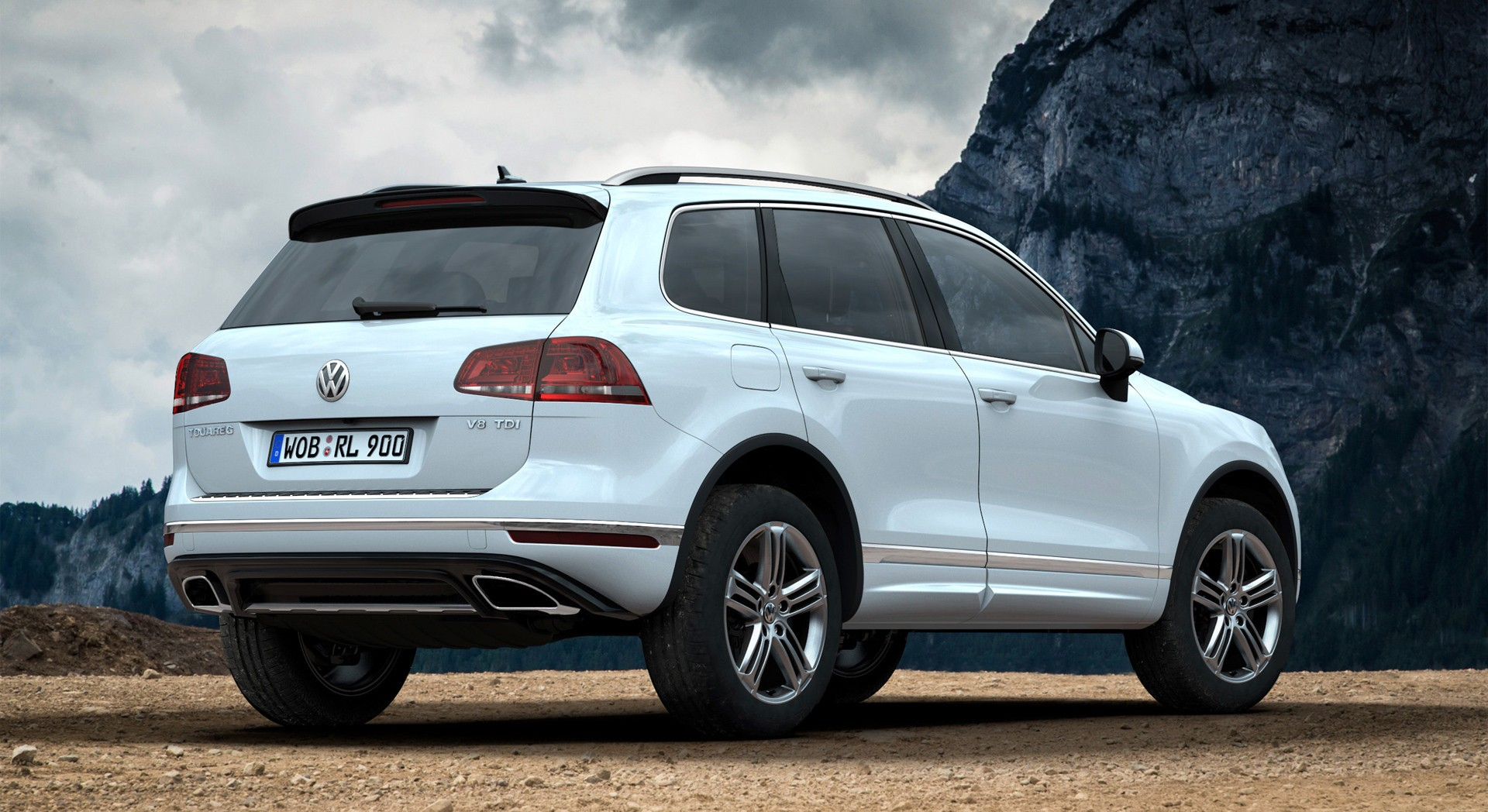 volkswagen touareg white photo