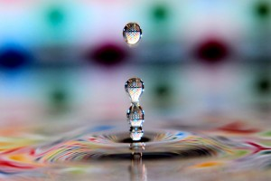water drops cool