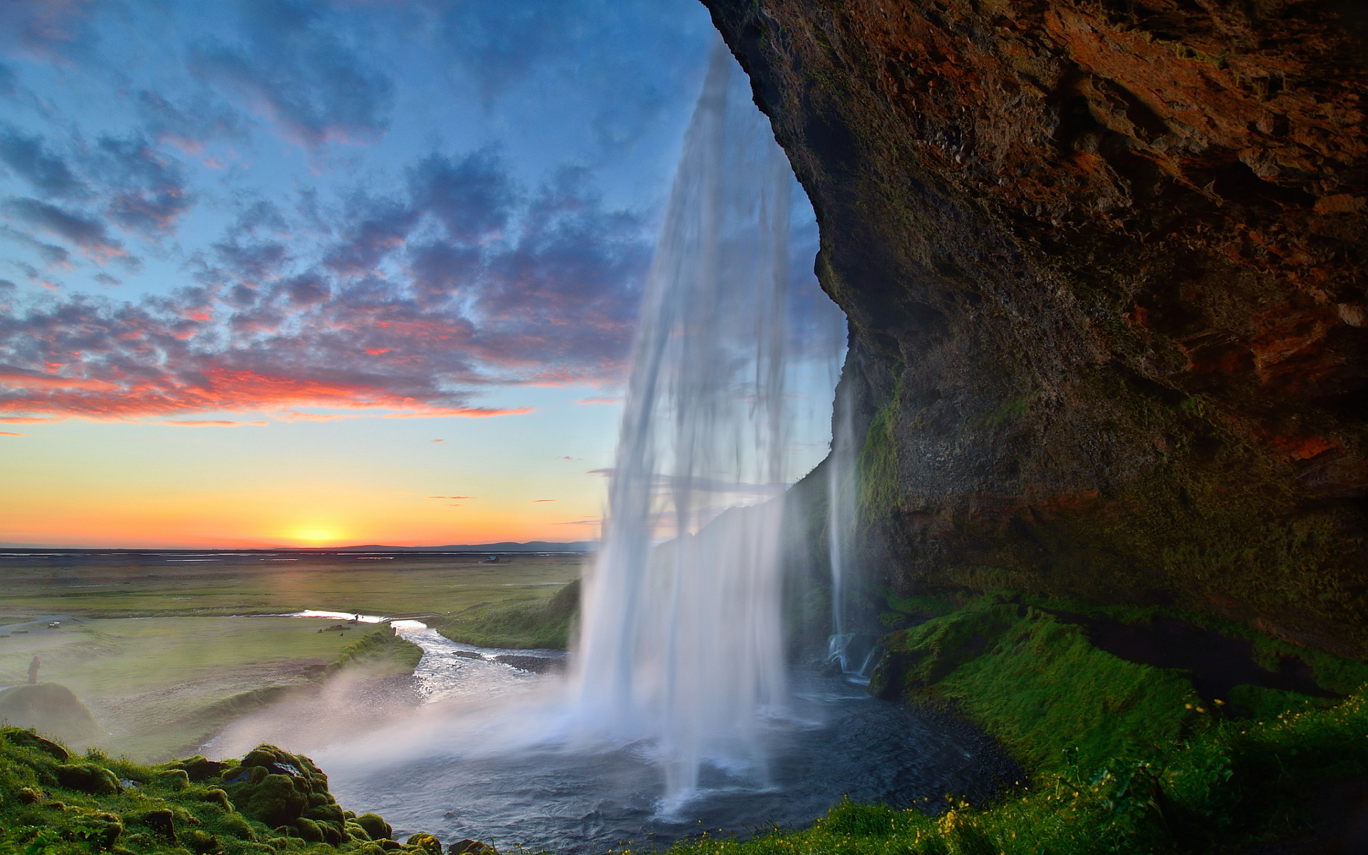 Waterfall Seljalandsfoss Island Hd Desktop Wallpapers 4k Hd