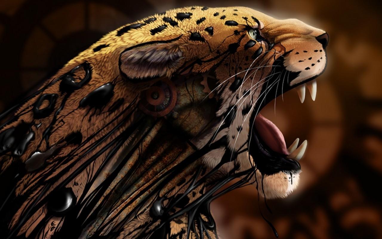 Digital Leopard Art Wallpapers: 3d Digital Art - HD Desktop Wallpapers