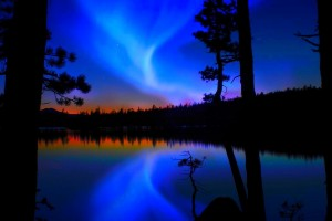 aurora pictures blue