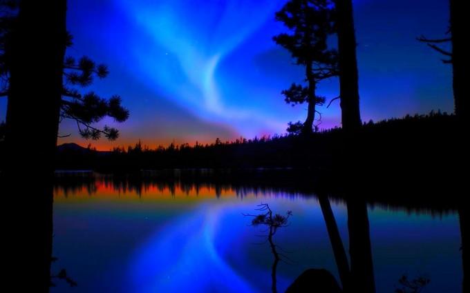 aurora pictures blue