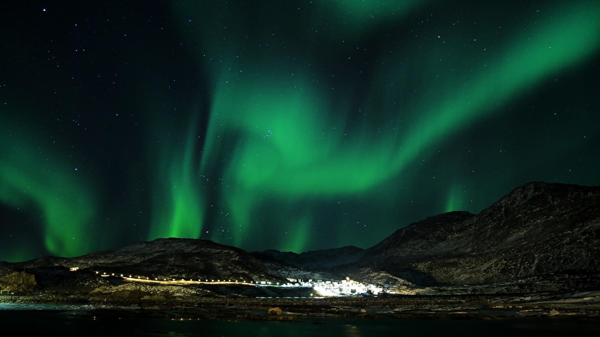 aurora wallpaper green