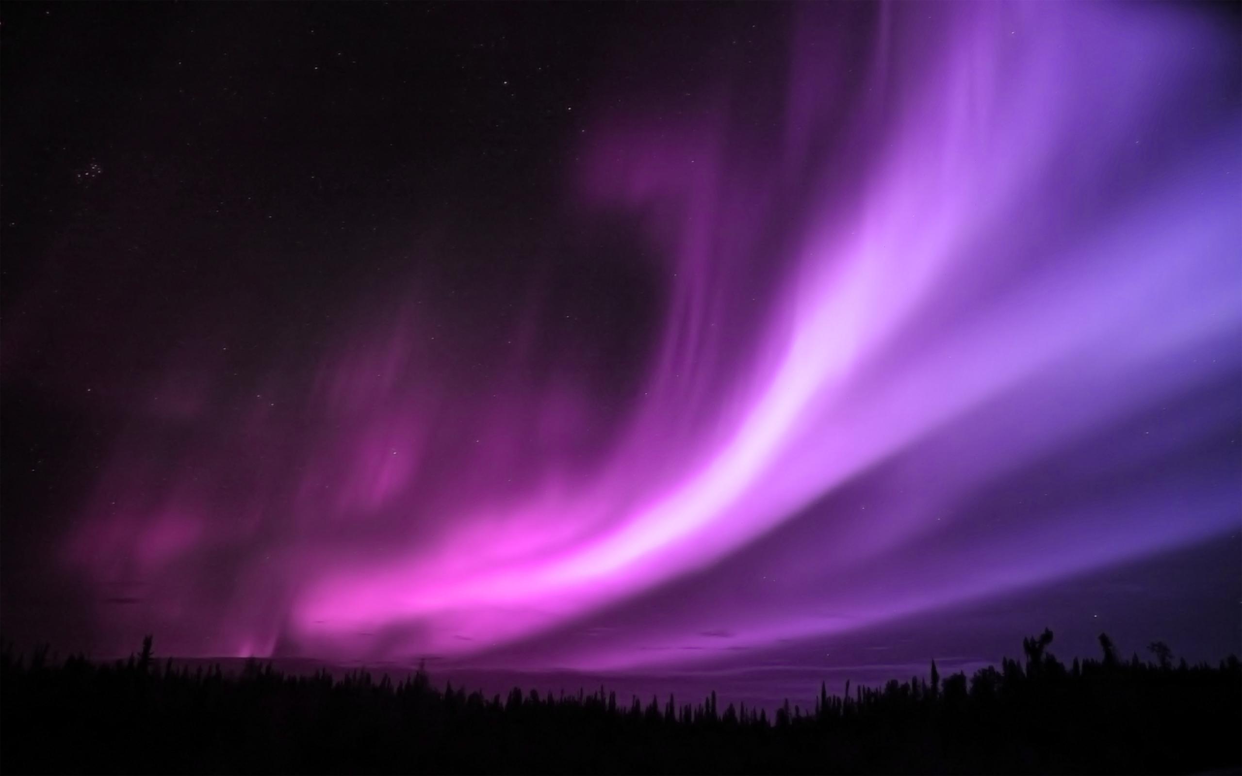aurora wallpaper purple
