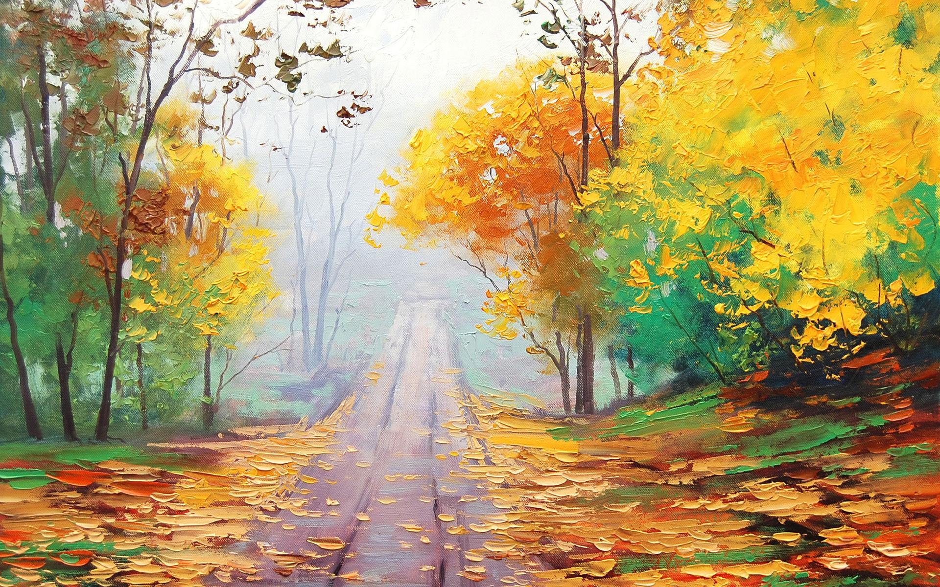 autumn wallpaper painting