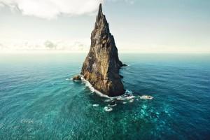 beach ocean pyramid