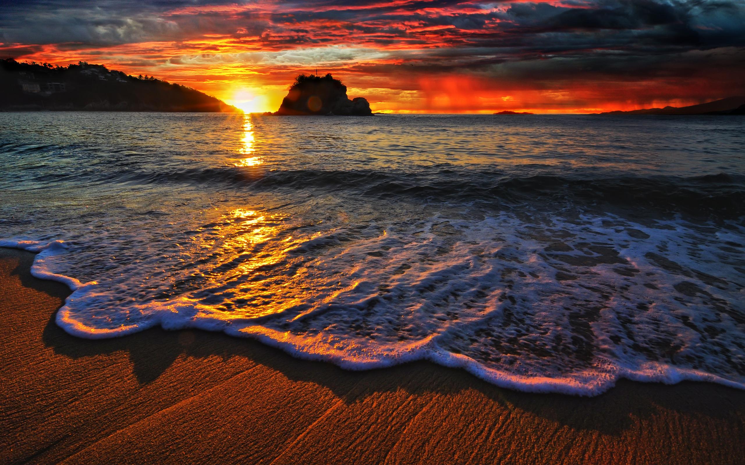 Beach Sunset Wallpaper Hd Desktop Wallpapers 4k Hd