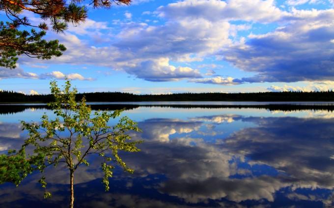 beautiful lake blue