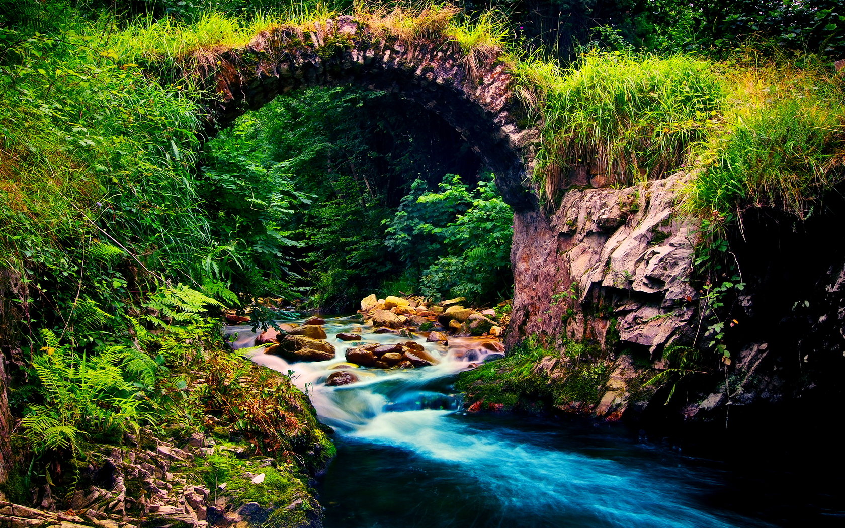 beautiful wallpaper archway nature