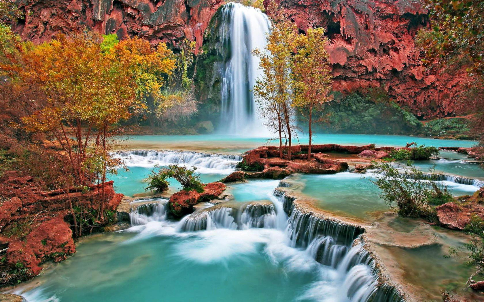beautiful wallpaper nature waterfall