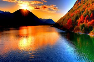 beautiful wallpaper sunset river