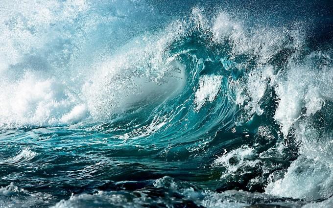 blue wallpaper waves