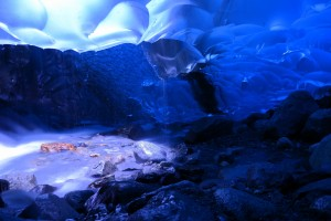 cave wallpaper blue